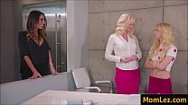 Watch Lesbian sex with mother and daughter in the office - caught by Boss preview
