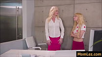 Watch Lesbian sex with mother and daughter in the office - caught_by Boss preview
