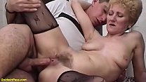 extreme skinny mature in sexy nylon stockings g...