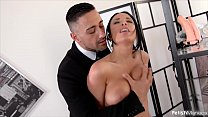 Fetish hottie Anissa Kate tied up & hardcore double penetrated with sex toy's Thumb