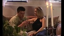 Blond mom with delicious shapes gives a guy a b...