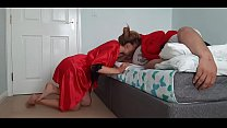 Step daughter takes advantage of her father tha...