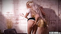 Sexy babes Nina Elle and Emma Hix enjoyed hot f...