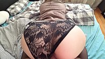 Young student with tight pussy gets fucked through panties صورة