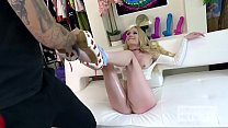Blonde babe meets guy online for rough sex_and gets banged hard Thumbnail