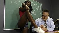 Black Student Seduces Her Teacher Into Becoming Her Slave- Ana Foxxx Femdom Thumbnail