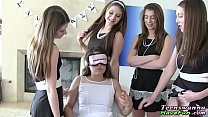 Real lesbian sorority teens eat out and finger ...