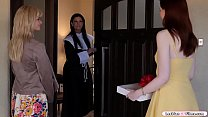 Milf blonde brings her stepteen into the house ...