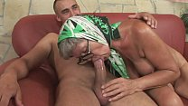 Very hot granny with amazing tits is banged by ...