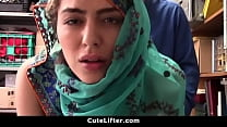 WEARING ARAB TEEN HARASSsED FOR STEALING