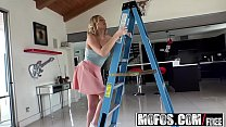 Mofos - Lets Try Anal - Hot Blonde Beats Fear of Anal starring  kate England and Ryan Driller's Thumb