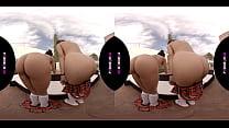 PORNBCN 4K VR | Lesbians schoolgirls cosplay sc...