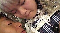 Subtitled Japanese schoolgirl bound and dressed...