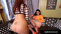 Watch Lesbian Latina Duo, AngelinaCastro & MissRaquel have some Wet StrapOn Sex! Miss Raquel takes Angelina with her Girl Dick & pounds her Wet Pussy! Full Video & Live @ AngelinaCastroLive.com! preview