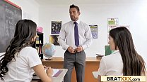 Sexy School-Girl Has Crush On Her Hunky Teacher