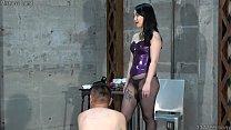 Japanese Mistress Whipping Strapon Hotwax Handjo