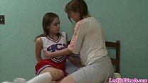 Lesbian teens Amber Chase and Sara Luvv's Thumb
