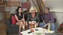 Watch He finds her GF fucking his old parents preview