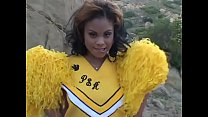 African cheerleader Olivia Winters slowly indre...