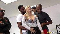 Busty Blonde MILF Sarah Vandella Interracial Gangbang's Thumb