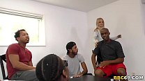 Watch Busty Blonde MILF Sarah Vandella Interracial Gangbang preview