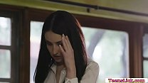 Busty boss is in her office masturbating and su...