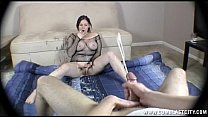 Hot brunette gets cumblasted's Thumb