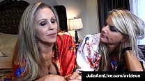 Milf Lesbian Lovers Julia Ann & Vicky Vette stu...