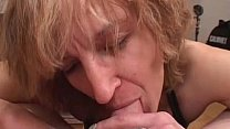 Amateur Mom gives blowjob with cumshot in mouth صورة