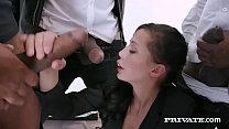 Watch Brunette Babe Natalie Love, has her hands, mouth, pussy & ass full of big black cock as she gets DP'd, mouth fucked & anal banged in this crazy interracial gangbang! Full Flick At PrivateBlack.com! preview