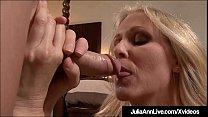Horny Hot Milf Julia Ann is on her knees, sayin...