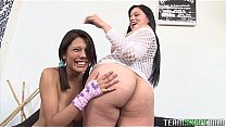 two lovely latina fingering each other pussies