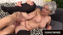 Granny Kelly Leigh Is Horny for a Cock's Thumb