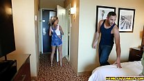 Stepsiblings gets caught by their mom fucking a...
