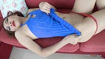 Hot body Asian babe receives creampie