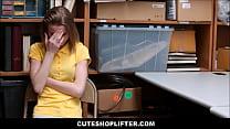 Tiny Skinny Teen Shoplifter Banged Hard By Secu...