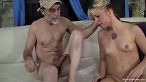 Young tiny blonde amateur sucks and then fucks ...