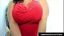 Spicy Curvy Latina, Angelina Castro bounces her huge tits while sucking on a long Spanish Cock that was helping her move. She rewards him nicely with a sloppy blowjob & her open legs, so he can stuff her moist Cuban muff until he jizzes on her mouth!'s Thumb