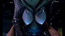 3D Alien Pussy Rides Human Cock