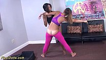 flexible real doll kelsi monroe gets stretched and toyed in crazy contortion positions's Thumb