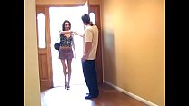 Sexy brunette whore rides fat dick by her wet t...