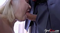 Hot mature lady has to persuade her boss via sex صورة