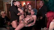 Spanish punker Liz Rainbow dragged in local pub...