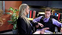 Job interview turns into anal 3some with teen and stepmom Thumbnail