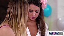 Watch Hot assistant teacher Kristen Scott licks her student Lily Adams preview