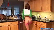 Brooke Skye stripteases and plays with her teen...