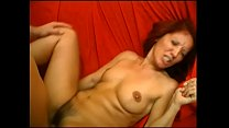 Redhead old woman gets fucked in her hairy box