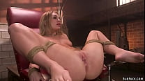 Master Tommy Pistol gags blonde slave Daisy Sto...