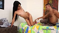 Watch Small tits teen tranny fucking preview