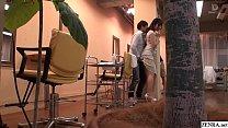 JAV Mizuna Wakatsuki hair salon covert blowjob ...